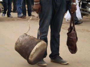 The ancestral drum of the traditional Prime Minister
