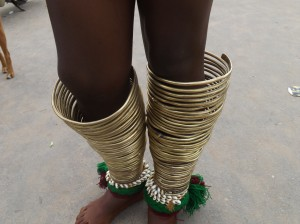 The legs and the bangles worn by the maidens