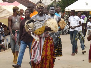 An 'Ekoi' dancer